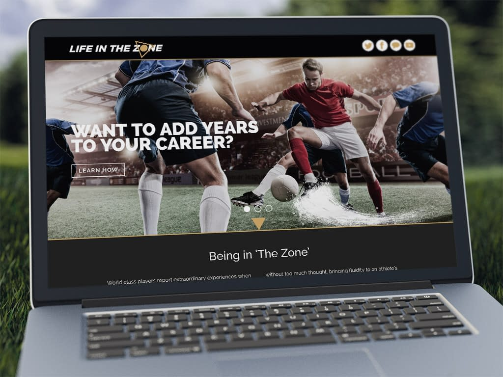 Life In The Zone web design
