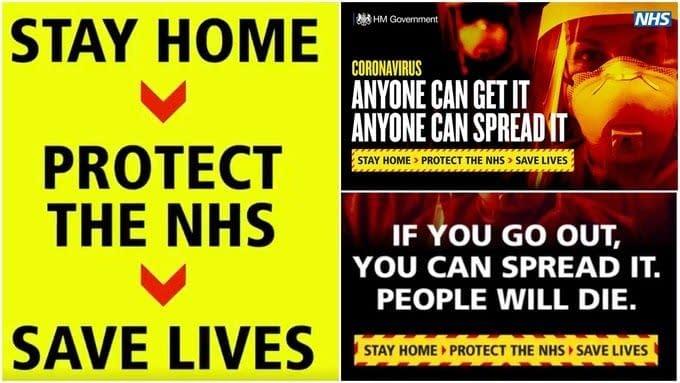 UK govt stay home advert
