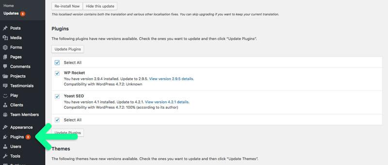 WordPress plugins link