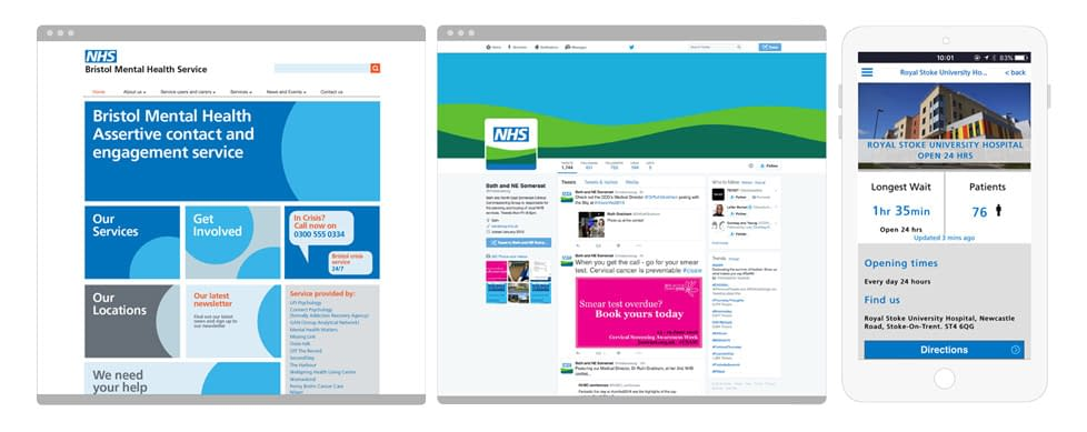 NHS identity modern examples