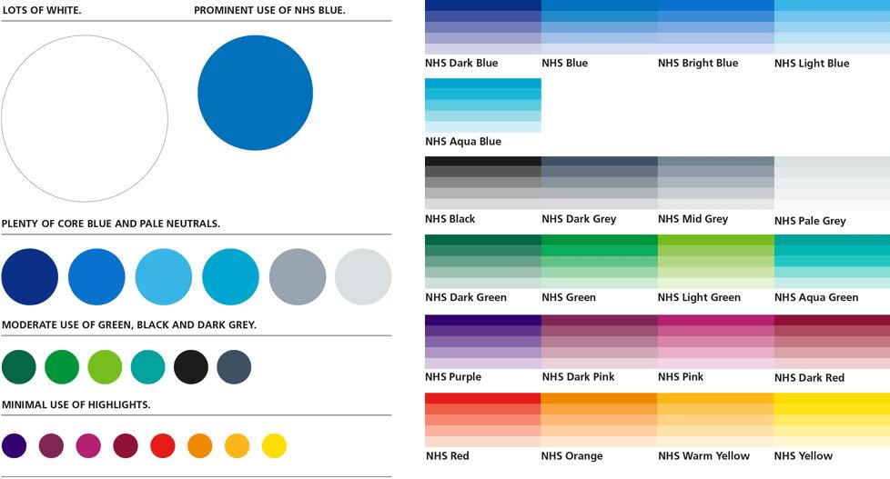 NHS colour palette