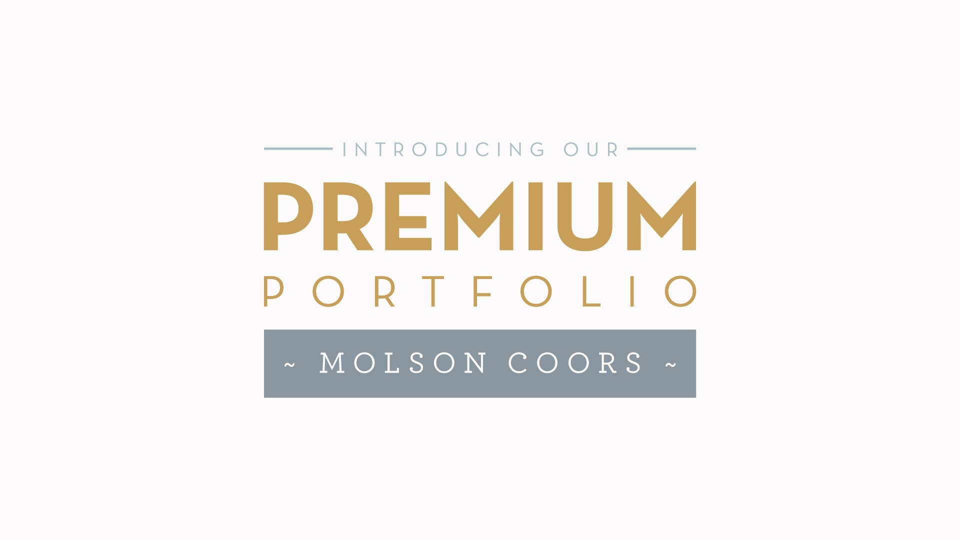 molson coors premium range