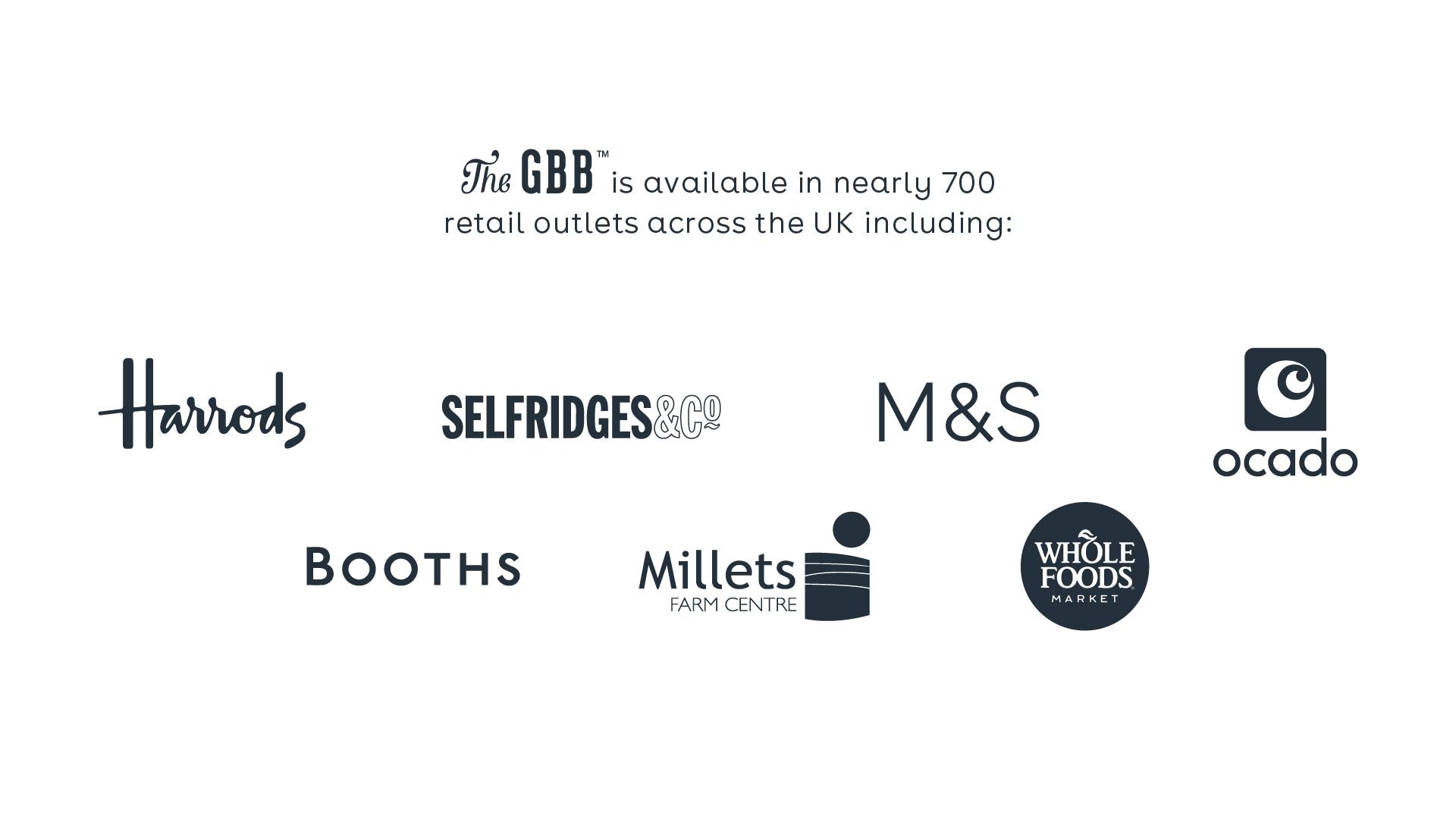 GBB stockist logos