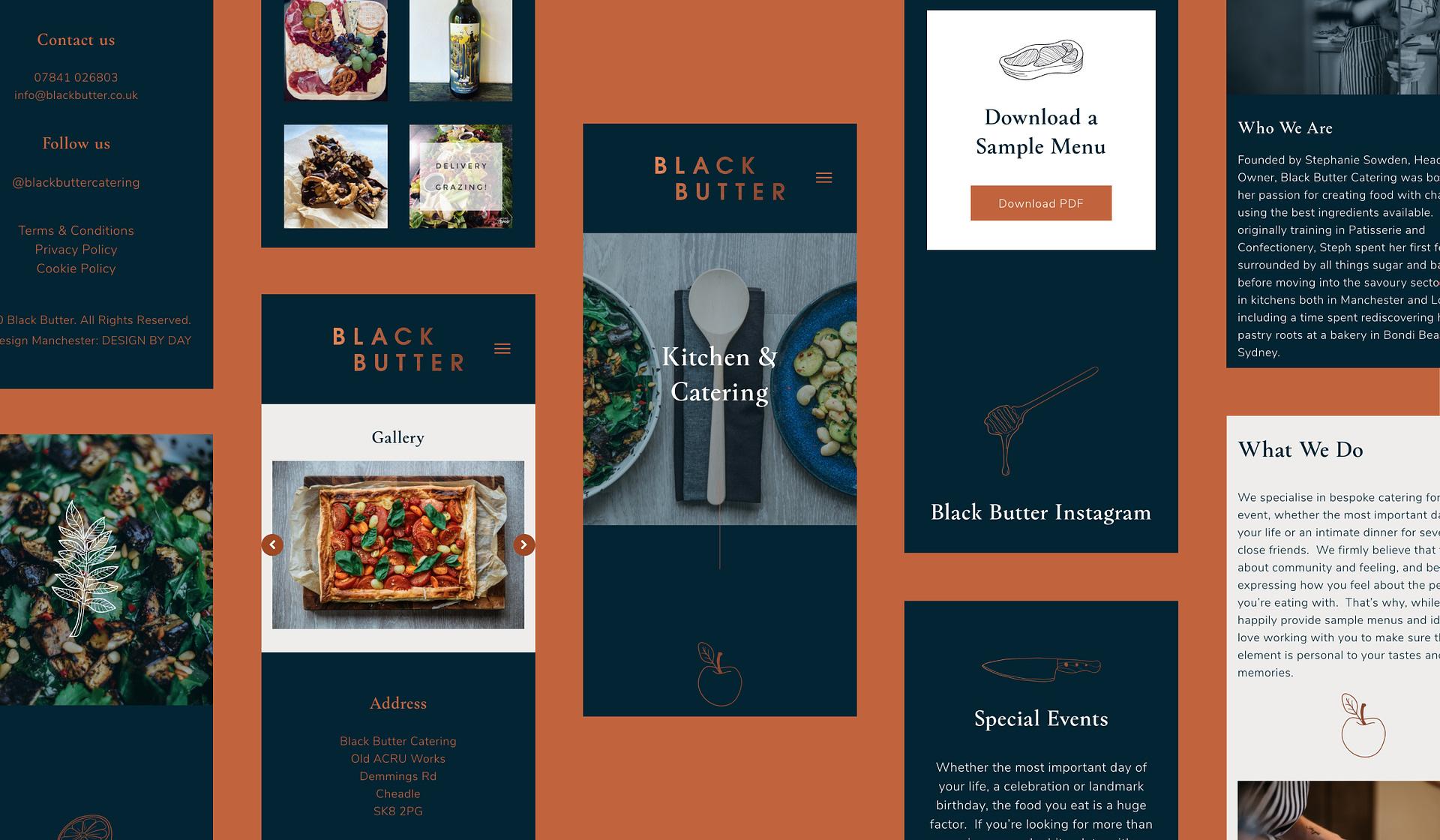 Black Butter mobile website