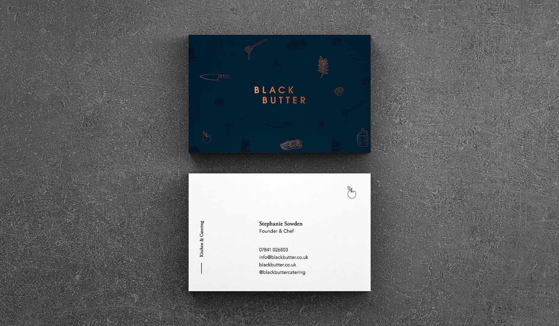 Black Butter business card