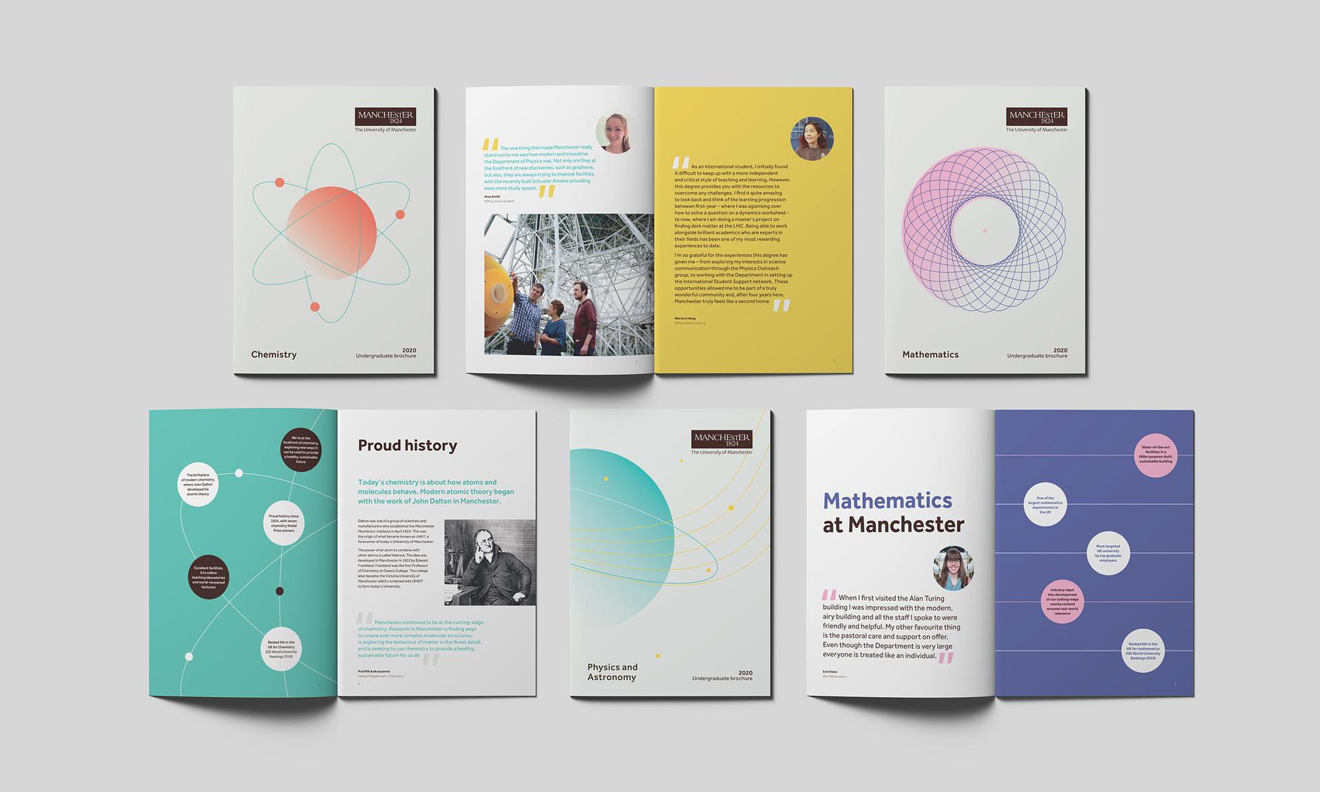 University of Manchester brochures open